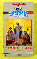 The Miracles of Jesus ~ New VHS Video ~ Greatest Adventure Bible Stories Cartoon