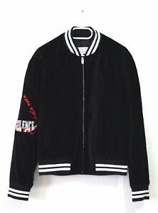 MAISON MARGIELA  Embellished Cotton Velvet Bomber Jacket - Bomberjacke aus Samt