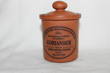 Henry Watson Pottery The Original Suffolk Canister for Coriander in Terracotta