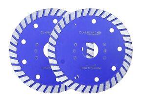 2x Classicpro Porcelain Stone Tile Turbo Diamond Dry Cutting blade wheel 115mm