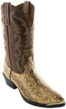 """Men's Laredo 12"""" Snake Print Boot Brown Size 7.5 #NI300-M416"""