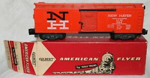 1957 American Flyer 984 New Haven Box Car in 24035 Stamped Box
