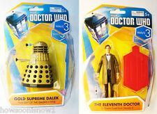 """Doctor Who 2014 3.75"""" Figure Variant Wave 3 # 5487 Gold Dalek Supreme & 11th Doc"""