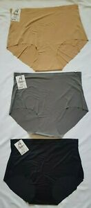 Angelina Laser-Cut No-Show High Waisted Briefs (LOT OF 3) One Of Each Color