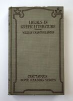 1905 Ideals In Greek Literature Antique Hardcover Book William Cranston Lawton