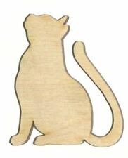 Cat Unfinished Wood Shape Cut Out C11289 Crafts Lindahl Woodcrafts