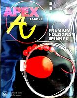 Apex Tackle Premium Hologram Red Spinner with Single Red Hook ( #SC3-32-1 )