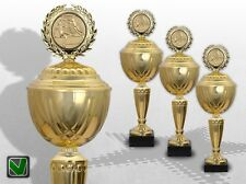 3er Pokale Pokalserie GOLDEN SUPREME mit Gravur Emblem günstige Pokale kaufen
