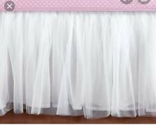 Nwt Pottery barn Kids Tulle Crib Skirt White