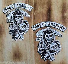 2 black/white Sons of Anarchy SAMCRO 1% Biker oldschool Sticker Chopper USA