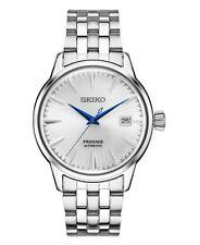 NEW SEIKO PRESAGE COCKTAIL AUTOMATIC SILVER DIAL STAINLESS STEEL BRACELET SRPB77