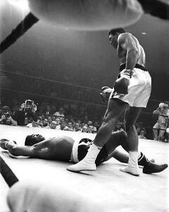1965 Title Fight MUHAMMAD ALI vs SONNY LISTON Glossy 8x10 Photo 'Rematch' Print