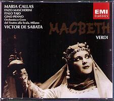 VERDI: MACBETH Maria Callas Enzo Mascherini Gino Penno VICTOR DE SABATA EMI 2CD