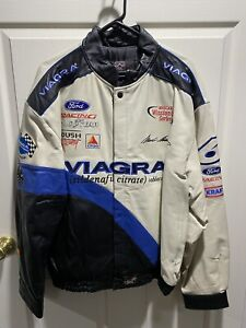 MARK MARTIN #6 VIAGRA RACING LEATHER JACKET SIZE XL