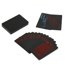 Waterproof PVC Plastic playing card game poker cards Board games black poker BB