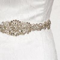 Bridal Sash/Bridal Belt/ Wedding Dress Sash Belt Vintage Rhinestone Crystal Us