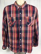 Levi's Men's Long Sleeve Button Front Casual Multicolored 100% Cotton Size XL