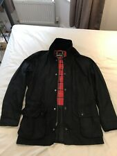 BARBOUR ASHBY BLACK MENS SMALL WAXED JACKET COAT