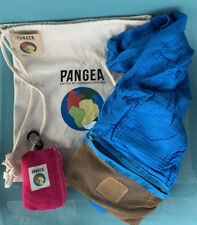 2 PANGEA Bamboo Travel Towels in Zip Bags+ Canvas PANGEA Backpack NWT FS