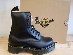 Dr Martens 1460 Bex Black Smooth Leather Platform Boots for Women