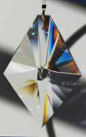 Huge KITE 63mm Austrian Crystal Clear Prism SunCatcher Ornament 2.5 inches