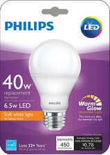 Philips 40W replacement 6.5W LED Lightbulb Brand New 10 pack