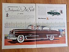1953 DeSoto FireDome 8 4 Dr Sedan & Club Coupe Ad