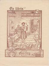 Ex-libris André HORNY dessiné par Léo SCHALL (1899-1986) - Strasbourg (Bas-Rhin)