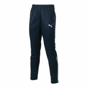 PUMA Tracksuit Bottoms Kids Entry Navy Blue  Slim Fit Gym Sports Training Pants