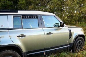 Defender 90 110 130 Rejilla Negro Estilo Aventurero /& Insignia-LR403G//DAH500330