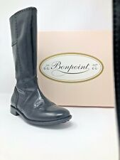 NEW Bonpoint GIRL Tall Black Leather boots. Shoes 31