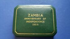 1965 ZAMBIA Proof 5 Shilling Coin in Original Box Royal Mint