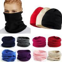 Unisex Fleece Snood Scarf Ski Balaclava Neck Warmer Winter Face Mask Beanie Hat