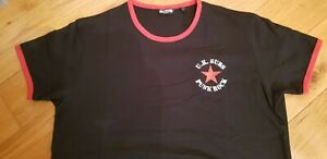 UK SUBS - Embroidered - Ringer Tee
