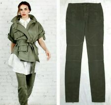 MARISSA WEBB RUNWAY ANKLE-ZIP FITTED STRETCH MOTO PANT JEANS $425 26