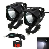 2x 30W XM-L T6 Motocicleta Moto LED Faros Niebla Spot Luces Lámparas+Switch