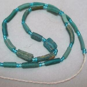 RARE--Ancient, Afghan Glass Beads, turquoise, 23 beads