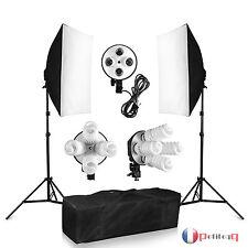 1520W Kit d'Eclairage Continue Softbox Studio Photo Soft box 8x38w Lamp Ampoule