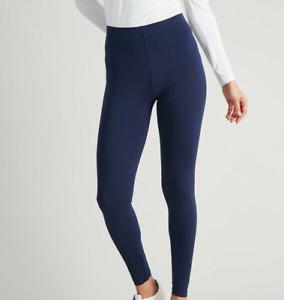 NEW BRAVISSIMO Navy Ponte Legging Thick Pants Womens Ladies Plain Casual BR307