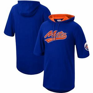 New York Mets Mitchell & Ness Short Sleeve Pullover Hoodie - Royal