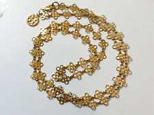 """Authentic Rare Tory Burch Logo Necklace 36"""" Gold Tone"""