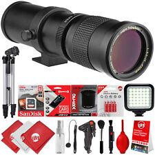Opteka 420-800mm f8.3 Tele Zoom Lens for Canon Digital SLR Cameras + 15PC Bundle