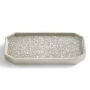 Kassatex Unisex Shagreen Bath Accessories Tray Porcelain/Grey