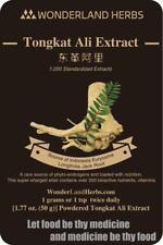 TONGKAT ALI / Eurycoma Longifolia Jack Root ROOT 1:200 EXTRACT Powder 50 GRAMS