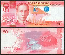 2016 H Philippine 50 Pesos 1 Million Serial Number AL 1000000 Banknote