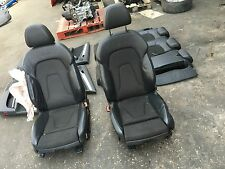 AUDI A4 S LINE ESTATE 2008-2012 HALF LEATHER SEATS + DOOR CARDS / DAMAGED
