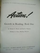 Action! Growth in Reading Book 1 (Pooley and Walcott, 1942 Hardcover)