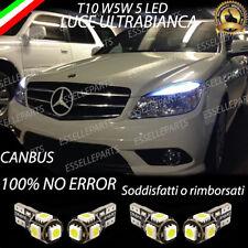 LUCI DIURNE POSIZIONE 5 LED MERCEDES BENZ CLASSE C W204 T10 W5W CANBUS NO ERRORE