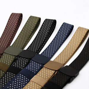 Men's Breathable Nylon Belt with Casual Locking Buckle