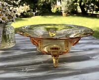 Antik Art Déco Edel Designer? Schale Glasschale Bernstein Farbe Gelb Glas Kunst